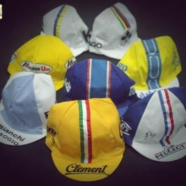 Gorras de equipos ciclismo clasico.